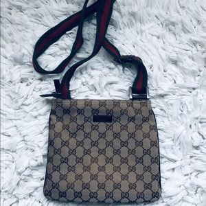 Gucci Monogram Messenger  Crossbody Purse